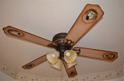 primitive ceiling fan custom painted ceiling fan blades saltbox primitive by