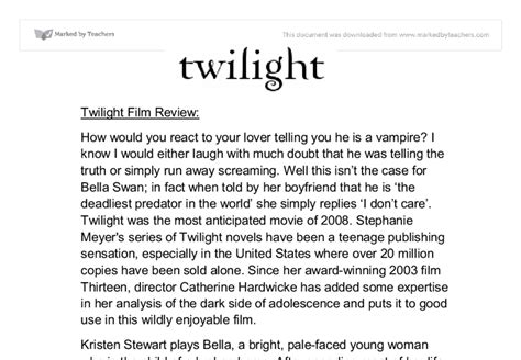 film drama baper twilight film review gcse english marked by teachers com