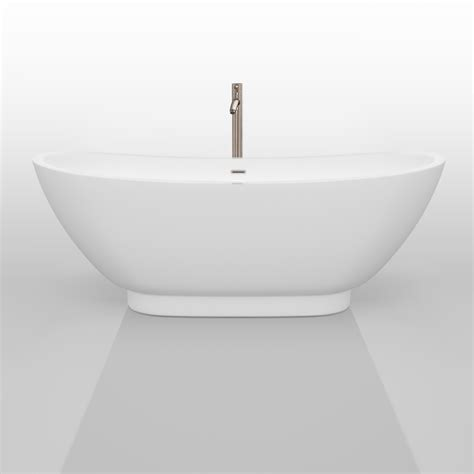 wyndham collection bathtub wyndham collection clara 69 quot soaking bathtub white