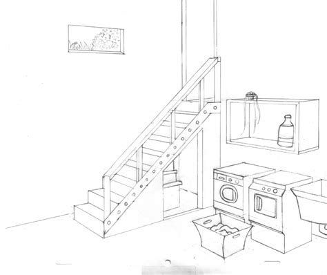 Staircase Drawings by The Laundry Room By Rainetomoe On Deviantart