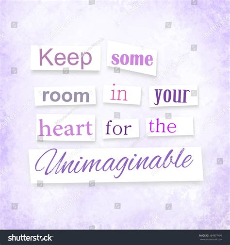 keep some room in your for the unimaginable grunge quote anonymous letter style keep stock illustration 164907491