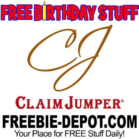 Where Can I Use Claim Jumper Gift Card - birthday freebie claim jumper freebie depot