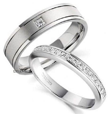 950 platinum matching his hers wedding bands diamonds