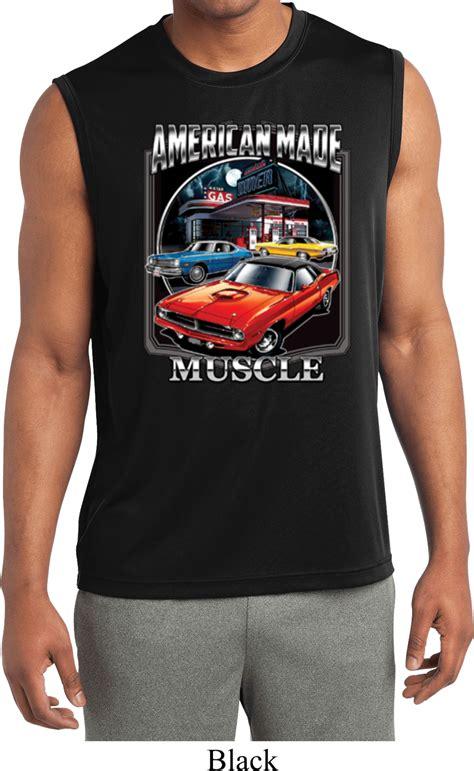 mens shirt chrysler american made sleeveless moisture
