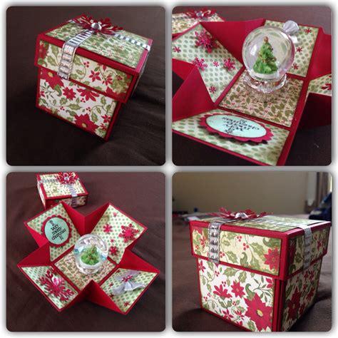 Explosion Box Tutorial Christmas | christmas explosion box red green my craft pinterest