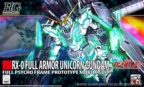Bandai Gundamuniversal Century 1144 Hg Rx 0 Unicorn Gu Berkualitas hguc 1 144 armor unicorn gundam custom build gundam