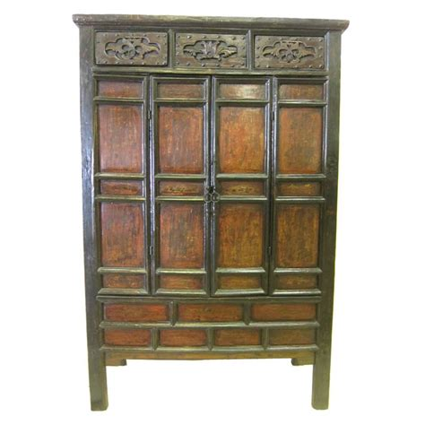 18th c chinese kitchen cabinet 18th century chinese panel door cabinet at 1stdibs