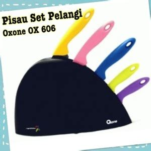 Harga Promo Ox 606 Rainbow Knife Set Oxone pisau set pelangi oxone ox 606 our chic shop