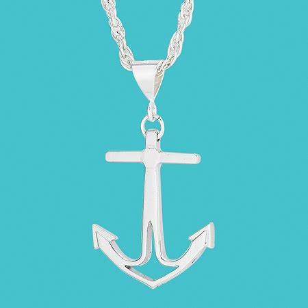 5 Nautical Style Treasures To Bring Some To Your Steps by Cape Coastal Design Anchor Necklace Medium