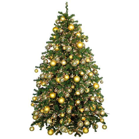 deko weihnachtsbaum mit goldkugeln dekoration bei