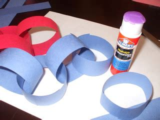 How To Make Paper Chains Without Glue - the of motherhood paper chain american flag craft