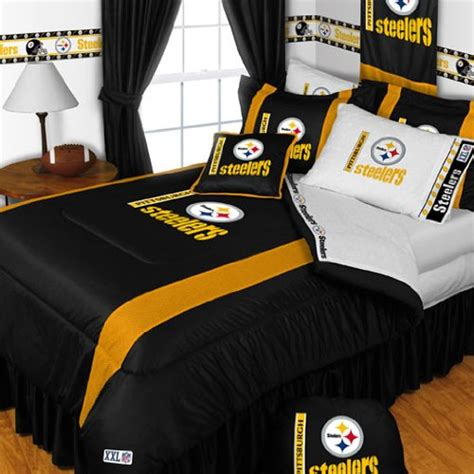 steelers bedding pittsburgh steelers queen 5 piece bedding set boy football
