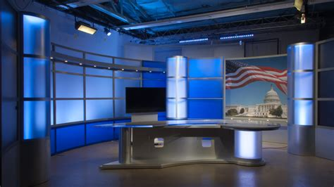 news studio desk sharp news desk tv set designs
