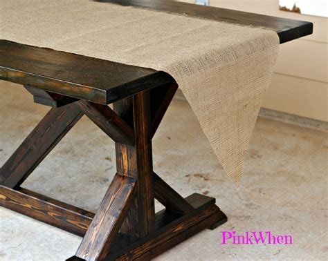 how to sew a table runner how to make a no sew burlap table runner pinkwhen
