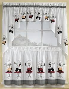 Chef Kitchen Curtains Italian Chef Window Curtain Set Kitchen Valance 36 Tiers
