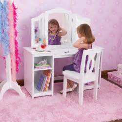 Makeup Vanity For Toddlers Kidkraft Deluxe Dressing Table Chair In White Costco
