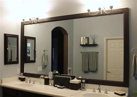 framed bathroom mirror ideas bathroom mirror ideas diy brown teak vanity