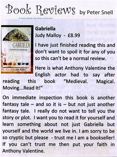 book review pictures gabriella the myth a book by judy malloy