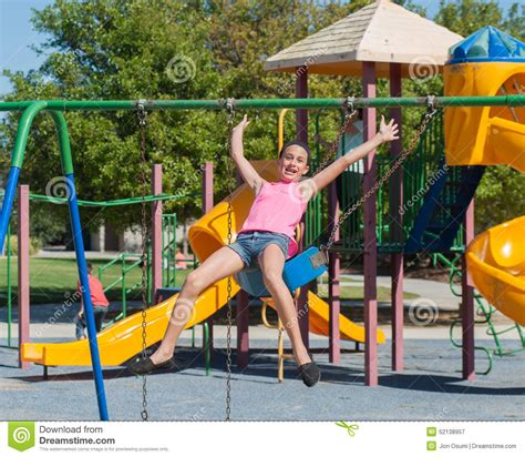 jumping off swings catching air stock photo image 52138957