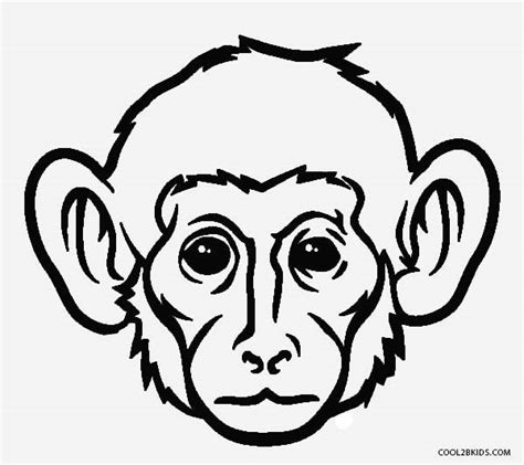 coloring page of a monkey face free printable monkey coloring pages for kids cool2bkids
