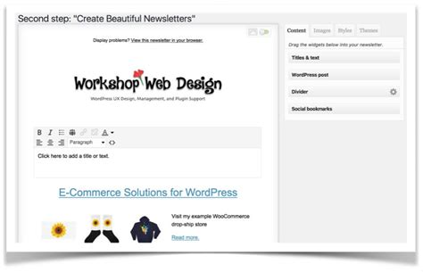 wordpress email layout wordpress email auto responders workshop web design