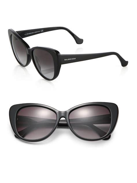 balenciaga 57mm cat s eye sunglasses in black lyst