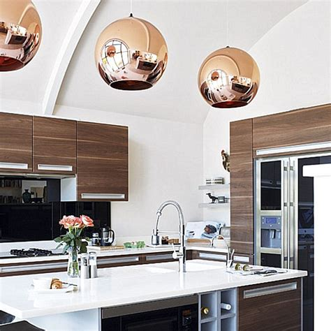 modern pendant lights for kitchen the shiny kitchen metal decor for your culinary space