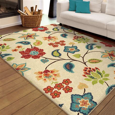 large indoor area rugs orian rugs indoor outdoor floral bloom ivory area large rug 2338 8x11 orian rugs