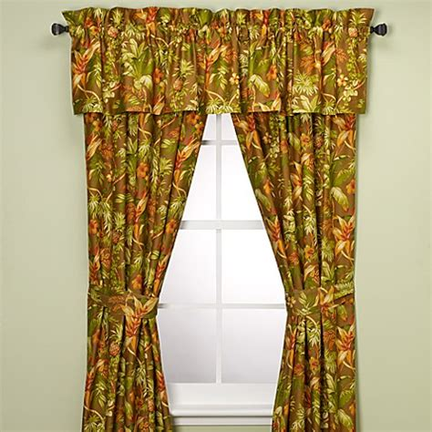 tommy bahama drapes tommy bahama 174 home tropical harvest window curtain panels