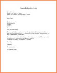 Resignation Letter by Simple Resignation Letter Best Business Template