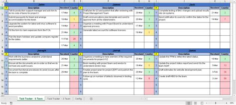 simple excel task tracker with sla tracking free project