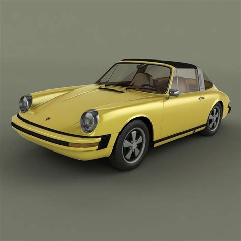 Porsche 911 Targa 1974 by Porsche 911 Targa 1974 3d Model Max Obj 3ds Cgtrader