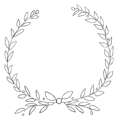 wreath template printable free printable laurel olive wreath design for furniture and