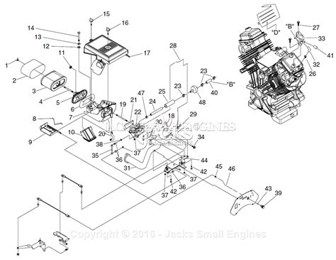 parts diagrams generac 005442 0 gth990 parts diagram for carburetor air