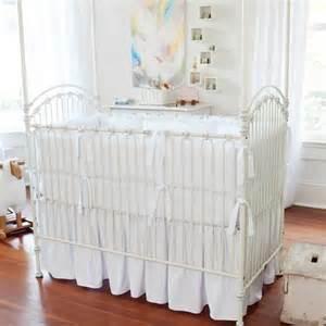 white crib set fitted crib sheet crib skirt and ruffle