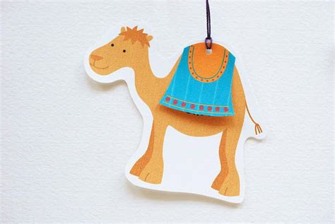 cute camel printable christmas tags