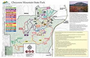 state parks colorado map cheyenne mountain state park trail map colorado springs