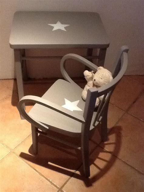 ensemble table bureau enfant et chaise fauteuil vintage en