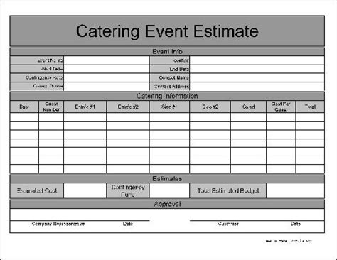 catering planning template catering event form template pictures to pin on