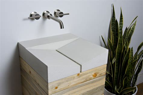 Vanities Jewelry And Gifts Sustainable Concrete Sink By Fiddlehead Designs