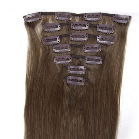 8 inch human hair extensions 32 inch clip in real human hair extensions