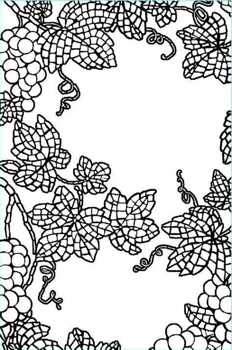 grape leaves coloring pages grape leaf coloring pages