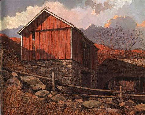 eric sloanes an age of barns by eric sloane connecticut barn by eric sloane art