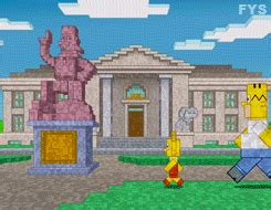 simpsons minecraft couch gag gif signs the simpsons simpsons homer homer simpson marge