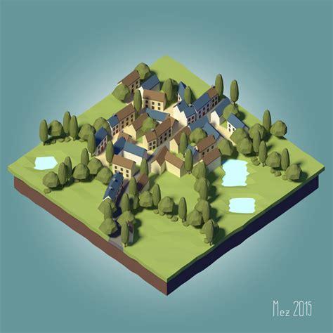 house 3d model glenridge hall part 1 youtube village lowpoly tutorial by mezaka on deviantart
