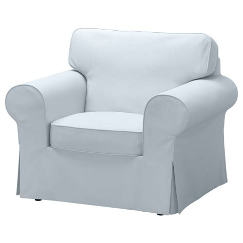 armchair covers ektorp armchair cover nordvalla light blue ikea
