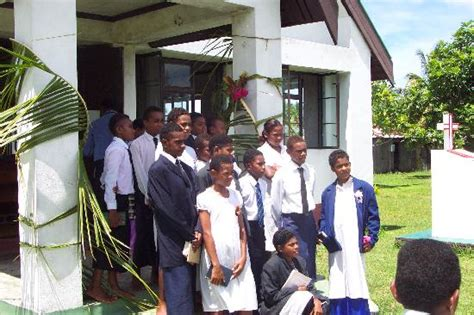 children  palm sunday service   yaqeta village picture  navutu stars fiji hotel