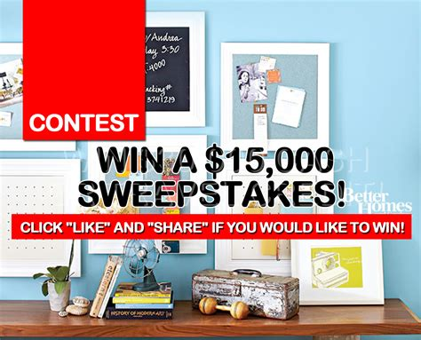 Winning A Sweepstakes - contest win a 15 000 sweepstakes like our page