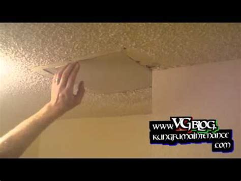 how to fix a in the ceiling popcorn ceiling repairs patching holes in the drywall