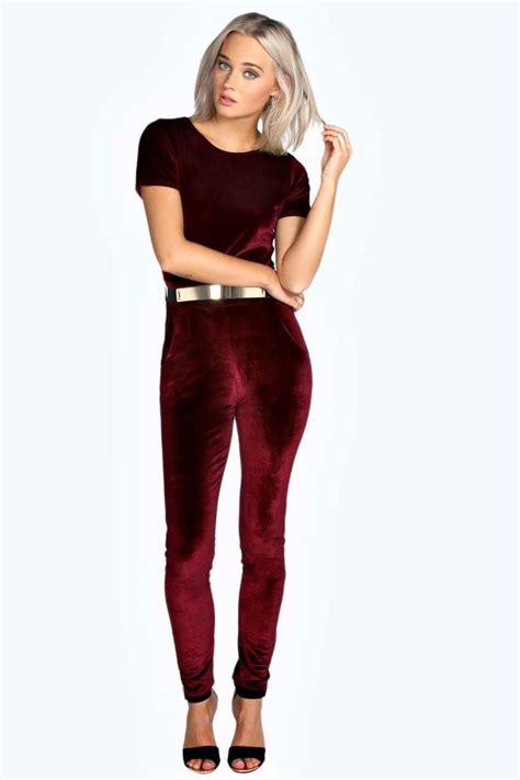 Velvet Sleeve Jumpsuit martha capped sleeve belted velvet jumpsuit